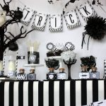 Sophisticated Black + White Halloween Party!