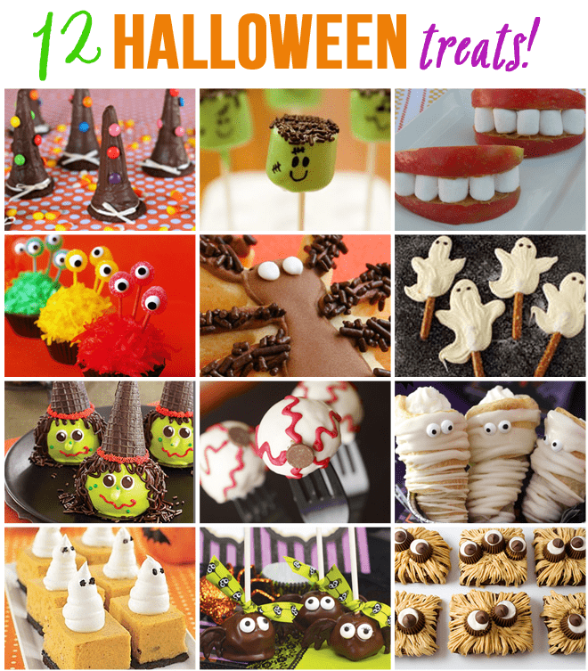 twelve halloween treats for parties
