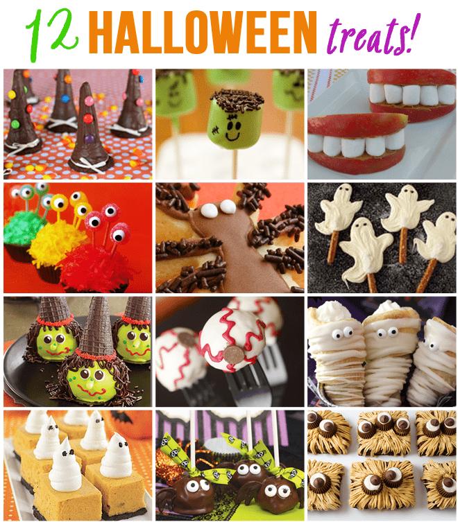 twelve halloween treats for parties