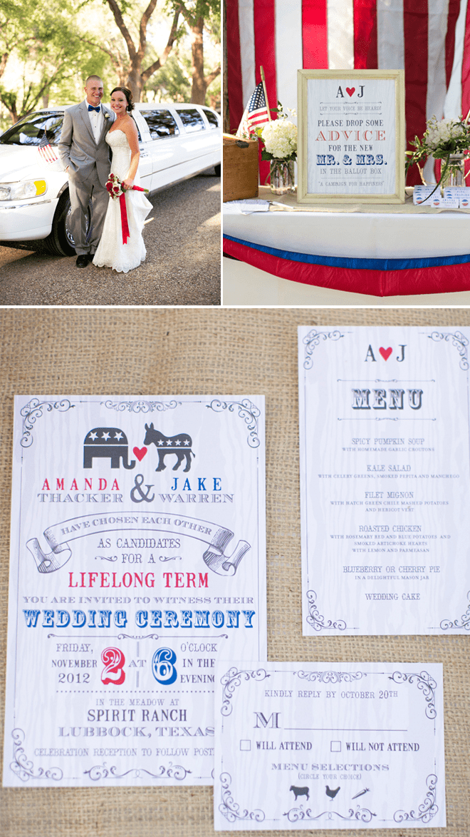 Election Themed Invitation Wedding Suite