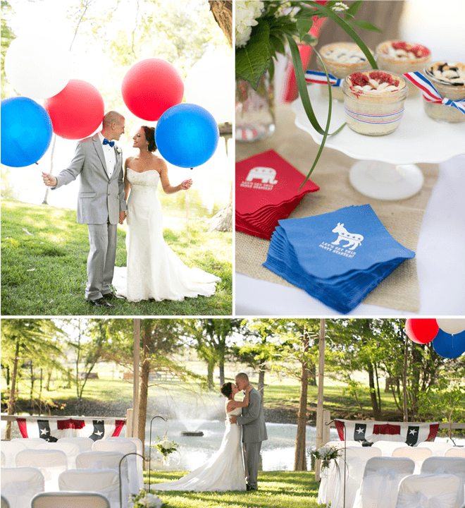 Election Themed Wedding