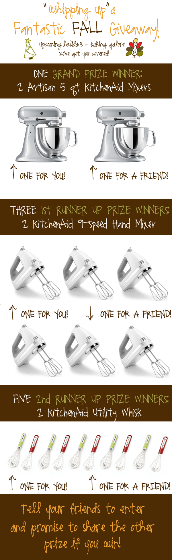 Fall Giveaway: KitchenAid Mixers!