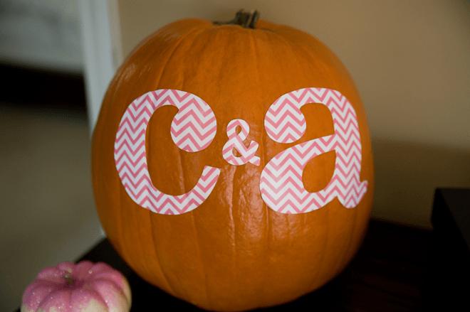 Twin's First Birthday Party Pumpkin