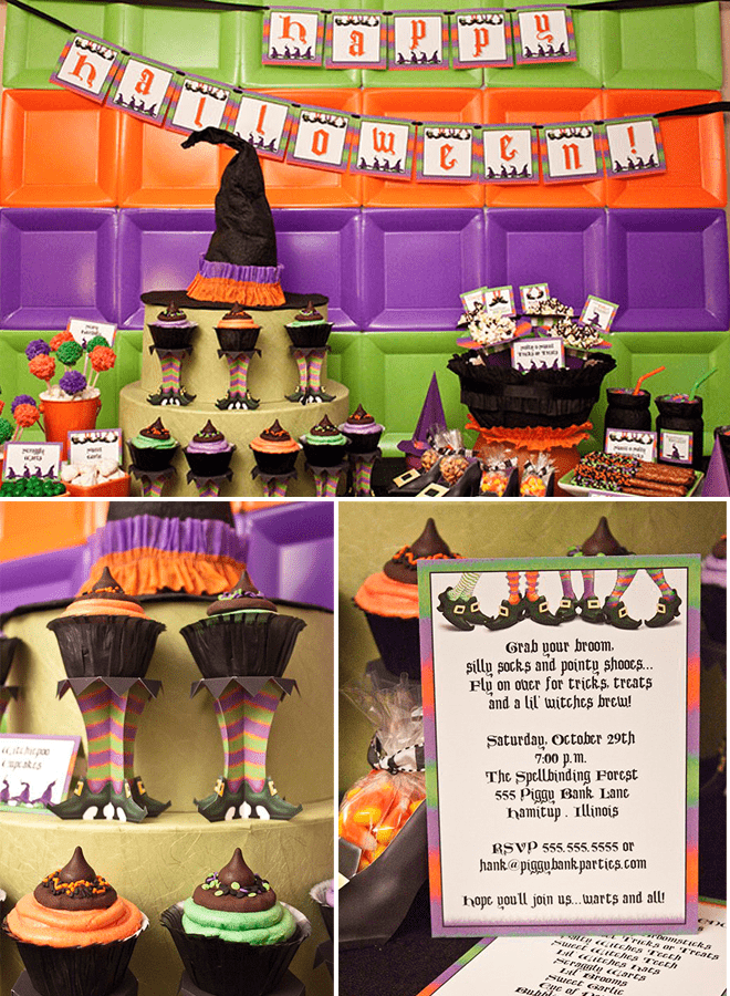 Halloween Lil' Witches Party by Piggy Bank Parties featured on Pizzazzerie.com