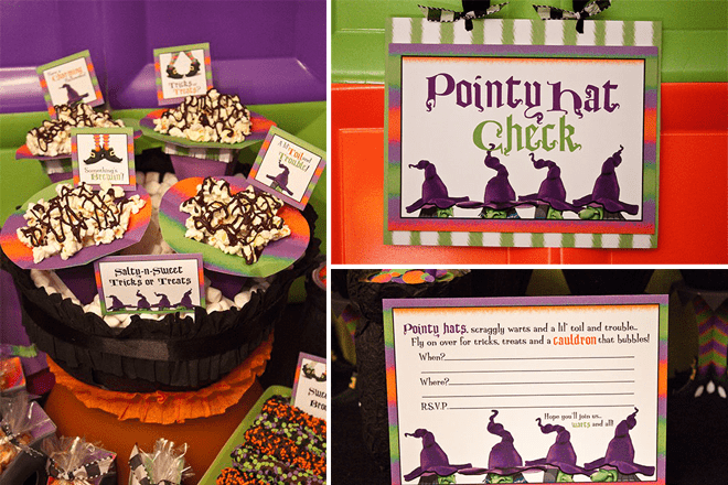 Witches Halloween Party by Piggy Bank Parties