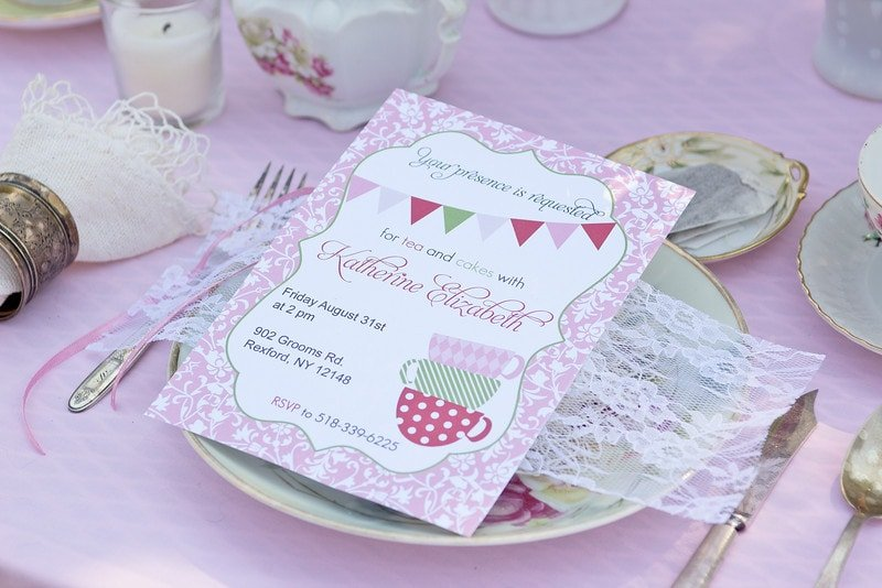 mother daughter tea party invitation