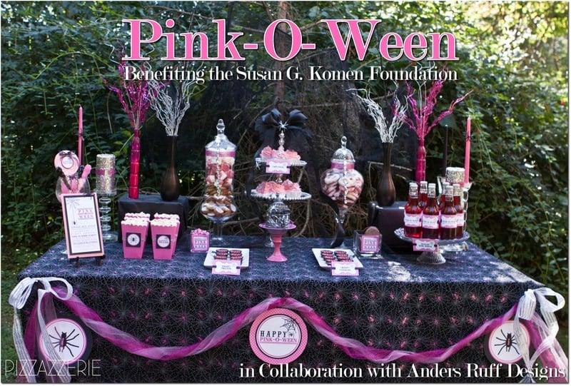 pink halloween for susan g komen foundation - Breast Cancer Decorations