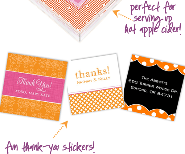 Fun invitations, stationery, + gifts for Fall!