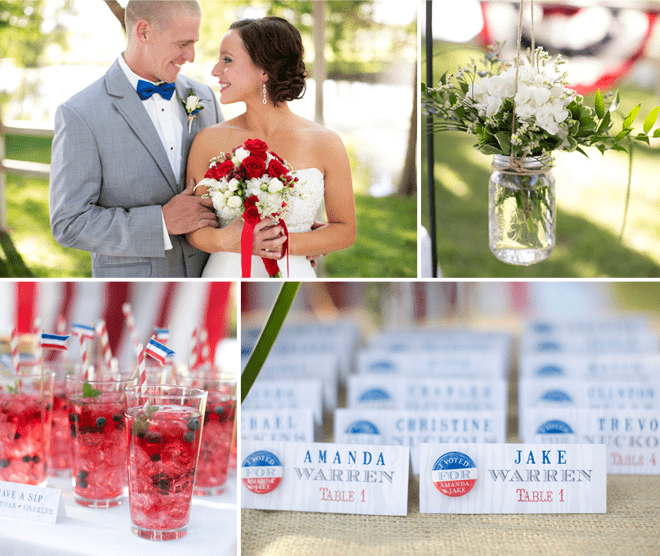 Red and Blue Election Themed Wedding Shoot