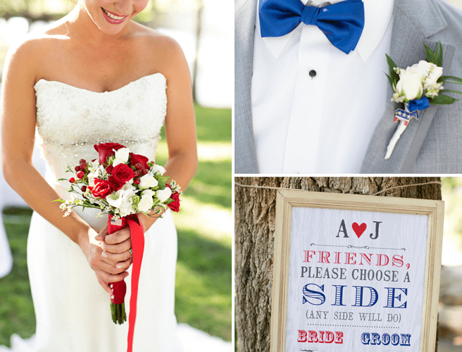 Red + Blue Election Themed Wedding Shoot