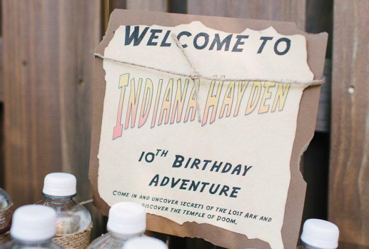 Indiana Jones Birthday Party!