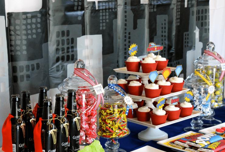 POW! A 30th Superhero Birthday Party Dessert Table