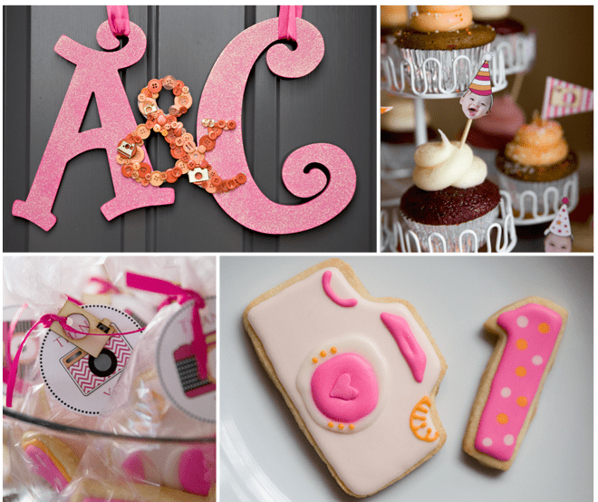Twin's 1st Birthday Party: Photography Flash Themed!
