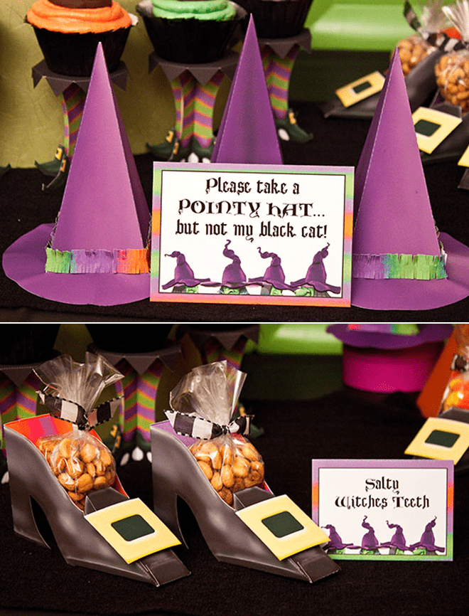 Cute Purple Halloween Witches Party
