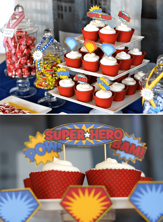 Superhero 30th Birthday Party Dessert Table