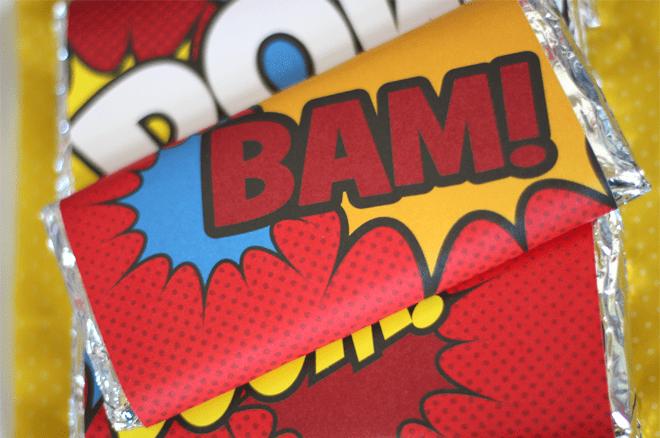 Vintage Comic Superhero Candy Bar Wrapper