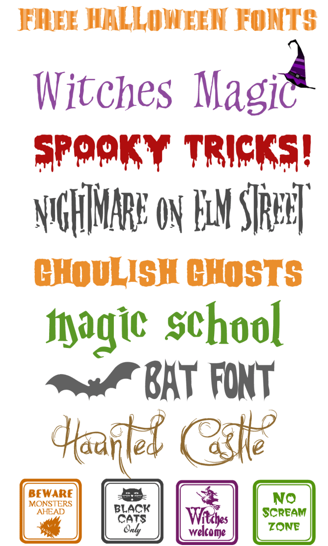 Free SPOOKtacular Halloween Fonts!