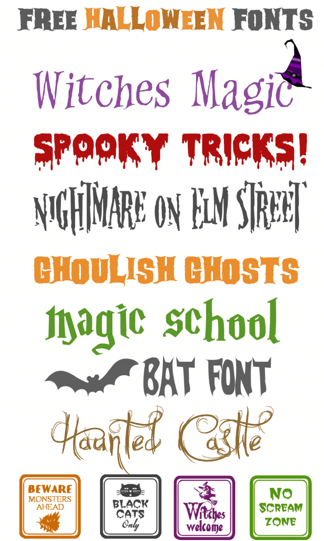 Free Halloween Fonts to Download!