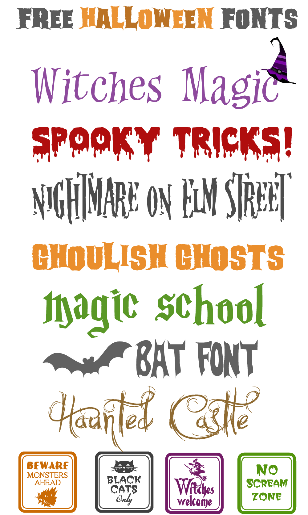 Free Halloween Fonts & Ways to Use Halloween Fonts