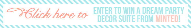 Minted + Pizzazzerie Party Decor Giveaway