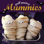 How to make Puff Pastry Mummies for Halloween on Pizzazzerie