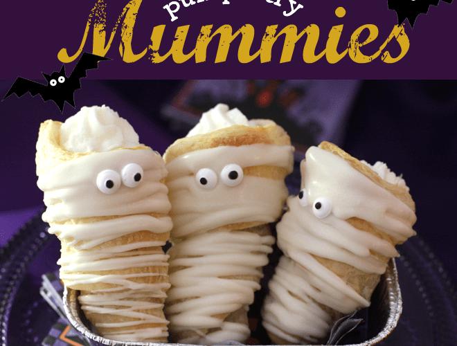 {Halloween Dessert Recipe} Puff Pastry Mummies!