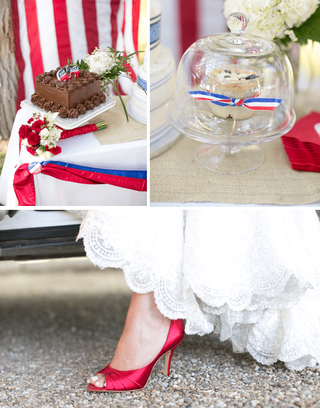 red blue and white wedding