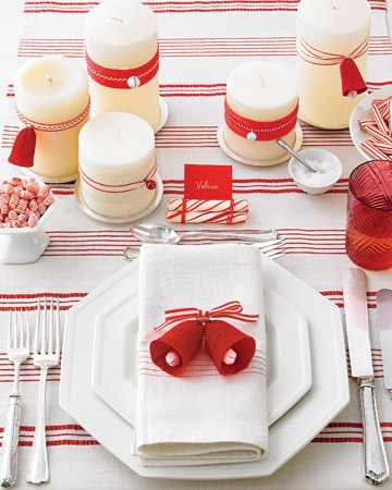 peppermint holiday table