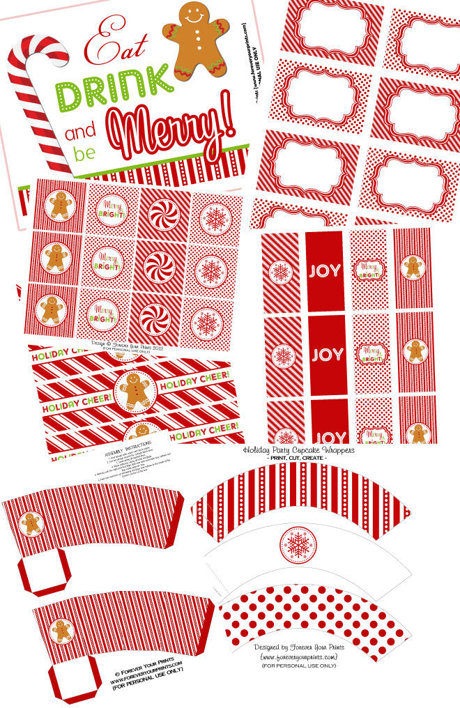 Free Christmas Holiday Party Printables