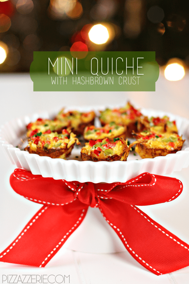 Mini Quiche with a twist: HASH BROWN crusts!