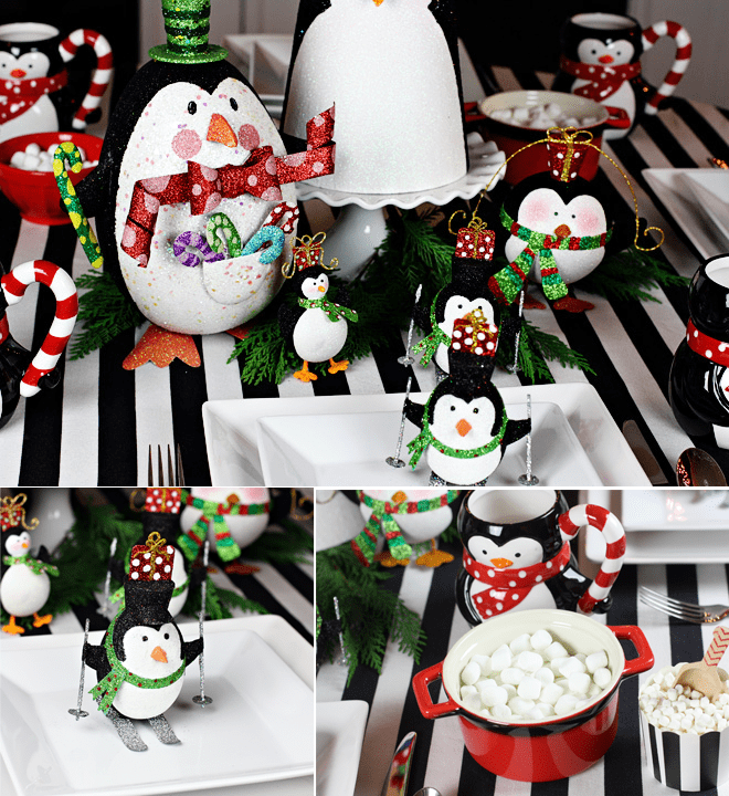 Pier 1 Holiday Penguin Party styled by Pizzazzerie