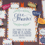 Thanksgiving Printable Party Collection for Free on Pizzazzerie