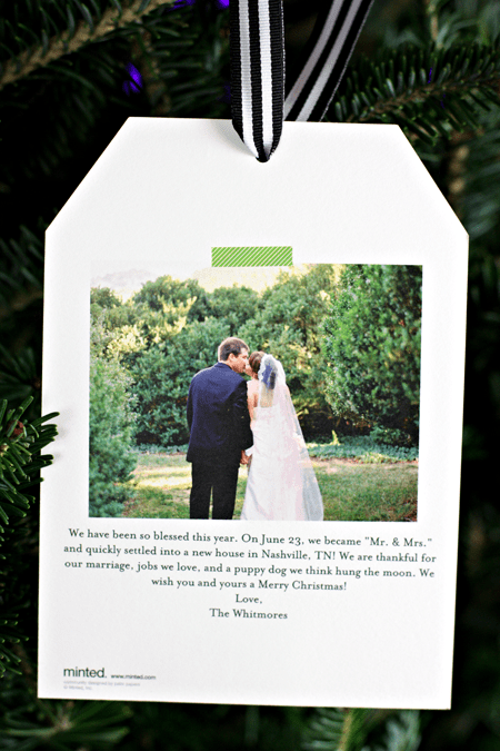 Back of Holiday Card