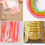 crepe paper streamer diy tutorial