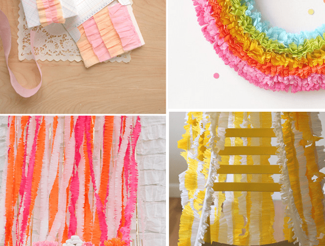 DIY Tutorial: How to make Ruffled Crepe Paper Streamers!