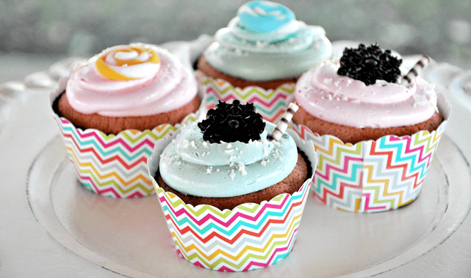 Sweet Shoppe Cupcakes with Chevron Liners