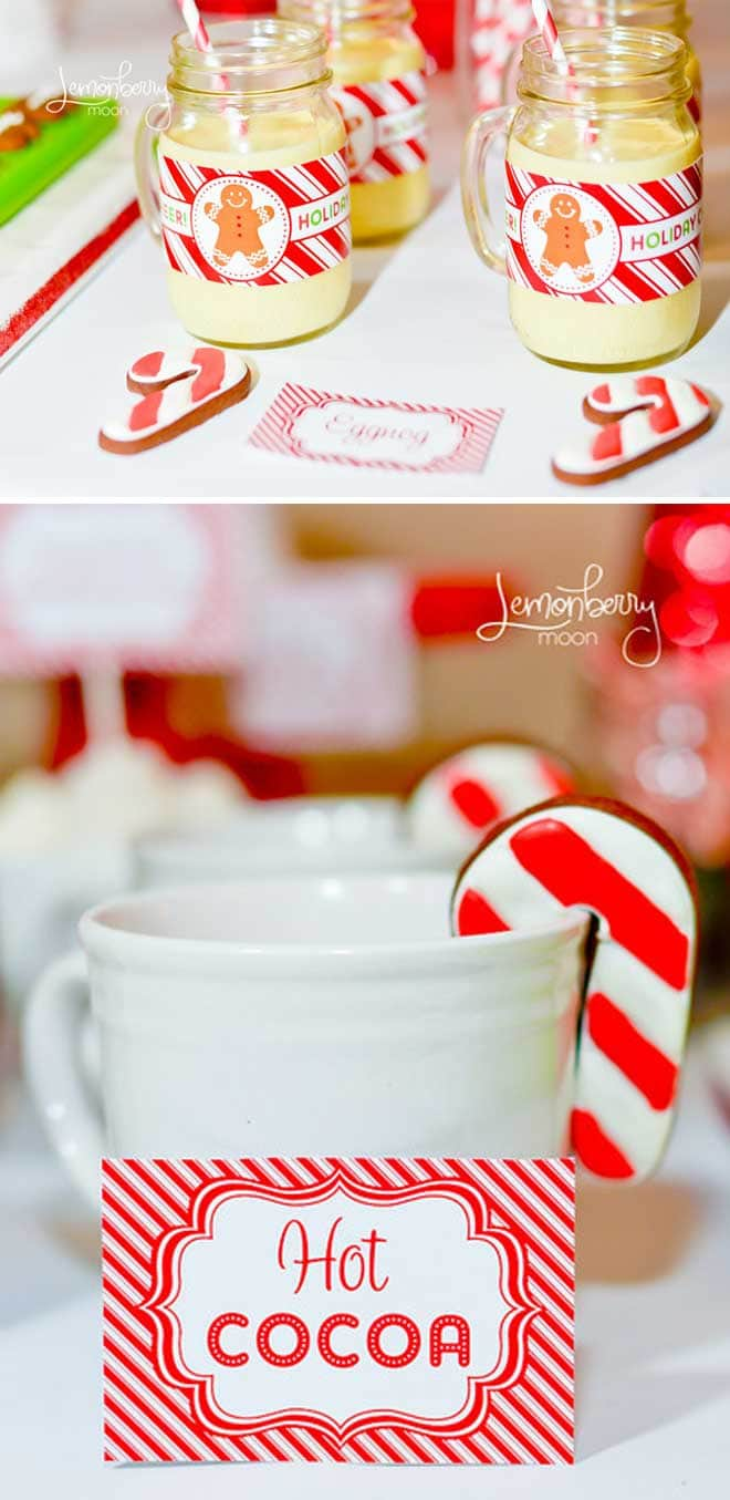 Cute holiday party photos with free printables on Pizzazzerie.com!