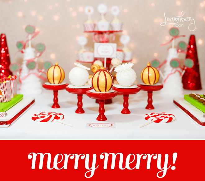 Cute holiday party with free printables on pizzazzerie.com