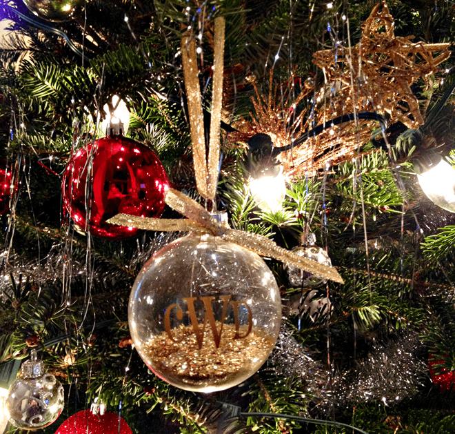 DIY Monogrammed Ornaments