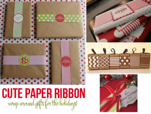Paper Ribbon to decorate holiday gifts!