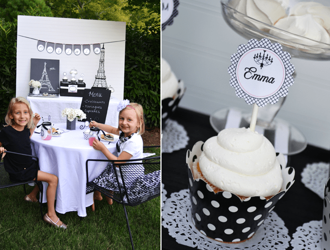 "Black & White ""Afternoon in Paris"" Tea Party!"