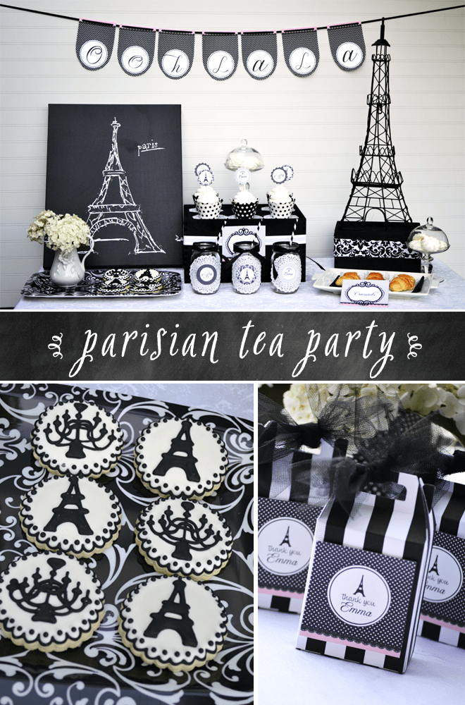 An Afternoon in Paris Tea Party featured on @Pizzazzerie