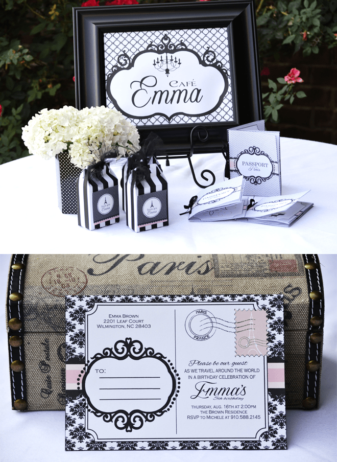 Black and White Paris themed Tea Party!