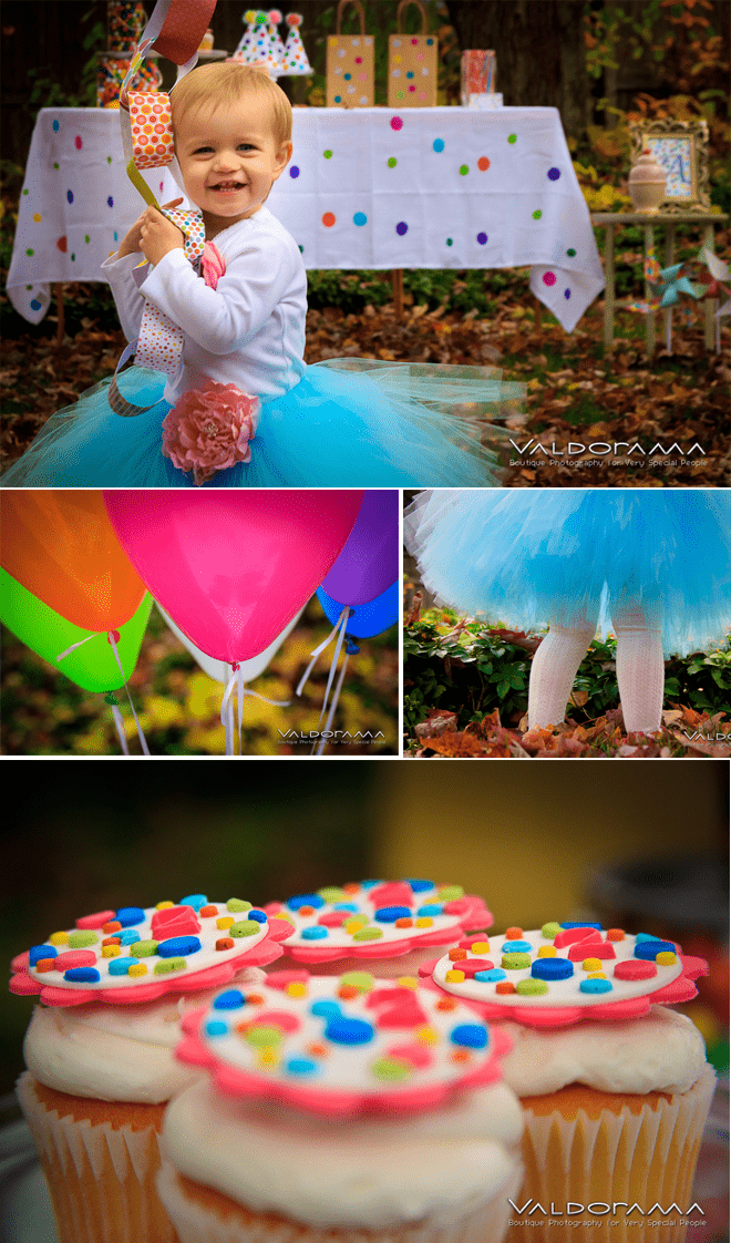 CUTEST Polka Dot Birthday Party on Pizzazzerie.com