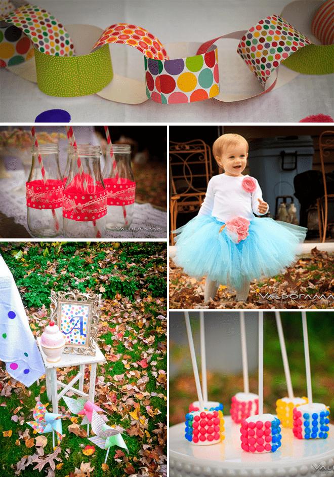 Cute Polka Dot Birthday Party details!