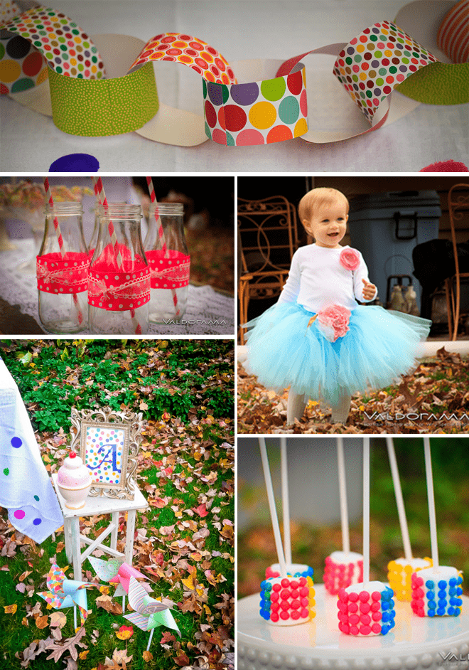 Cute Polka Dot Birthday Party details!
