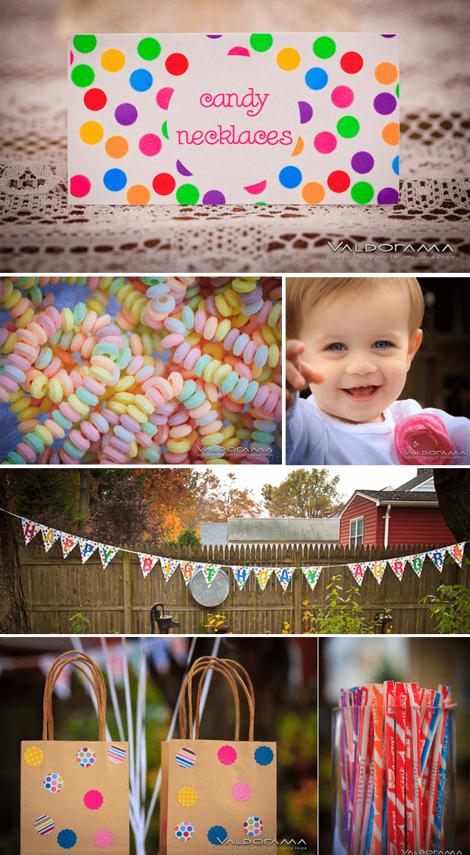 Cutest polka dot birthday party ideas on Pizzazzerie