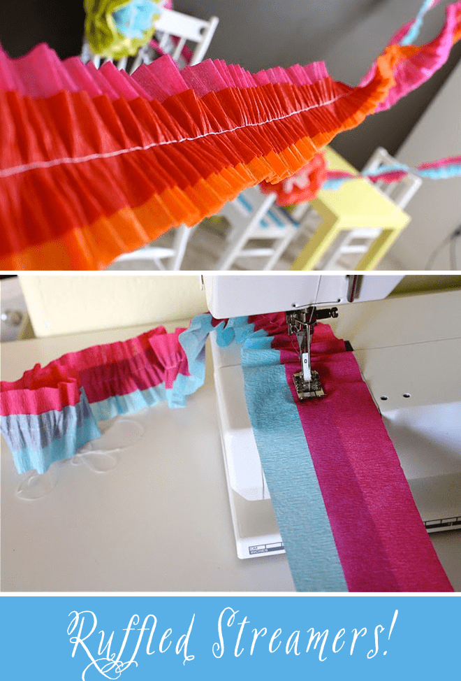 Diy tutorial how to make ruffled crepe paper streamers for Decor using crepe paper