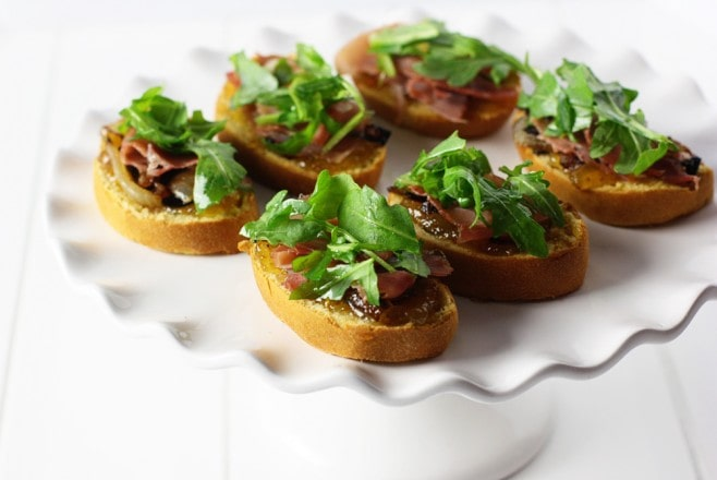 Sweet Potato Proscuitto Crostini Recipe
