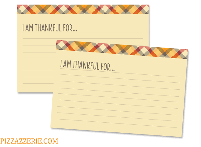 I am Thankful For Card Printables by Pizzazzerie